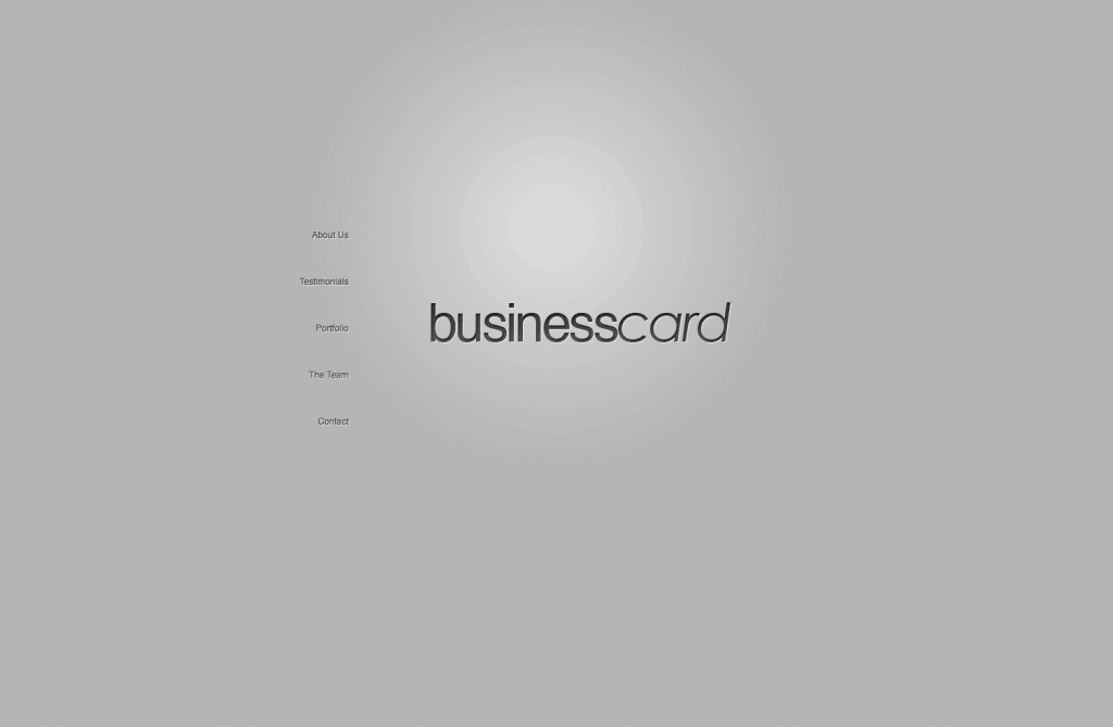 Screen Shot BusinessCard
