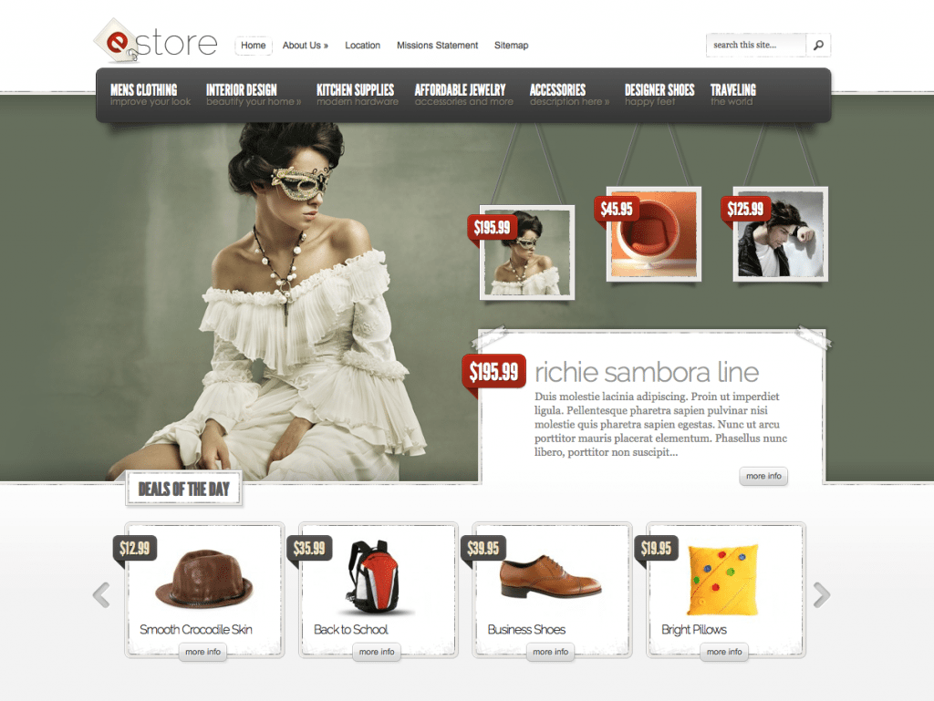 Screen Shot eStore