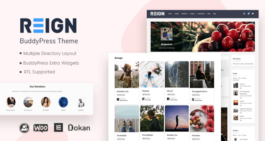 Reign BuddyPress Theme