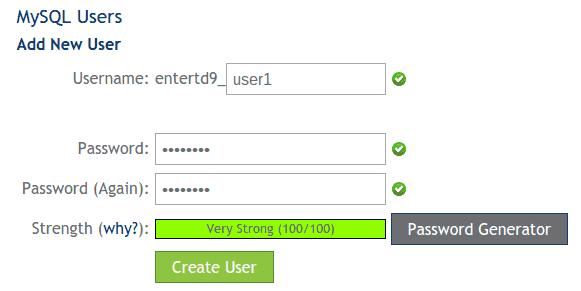 Add New User on MySQL