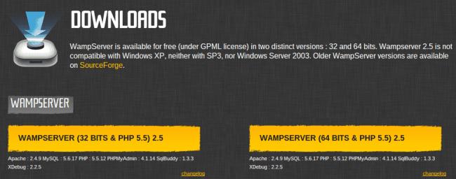 WAMP Server Downloads
