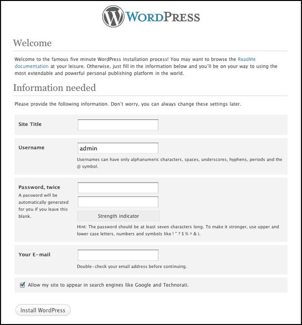 WordPress Information