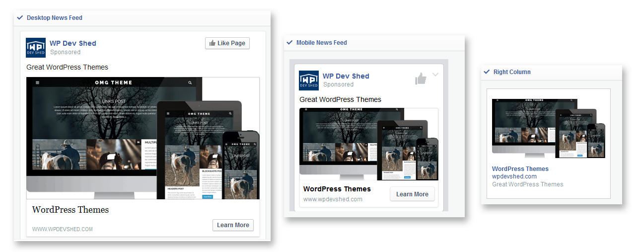 Facebook Ads Types