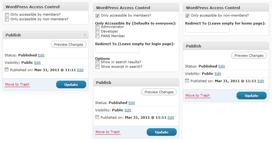 WordPress Access Control