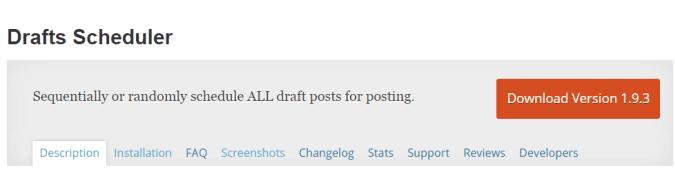 drafts scheduler plugin