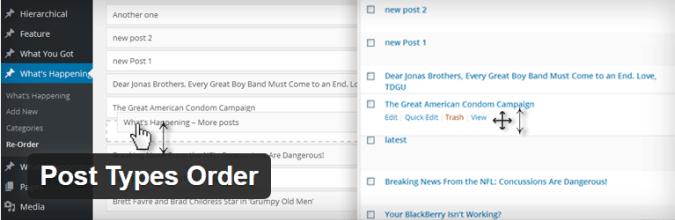 8 post types order
