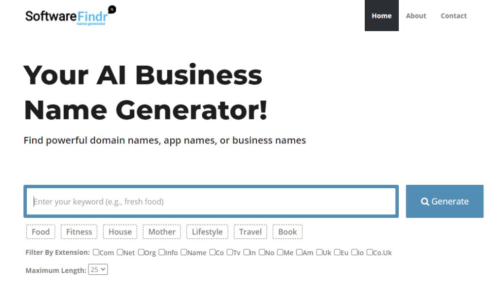 Softwarefindr Name Generator