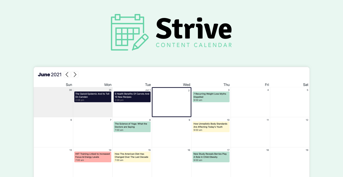 Strive - content calendar plugin