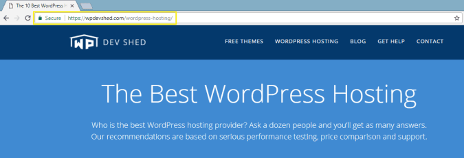 Which WordPress Hosts Offer Free SSL Certificates » WP Dev Shed