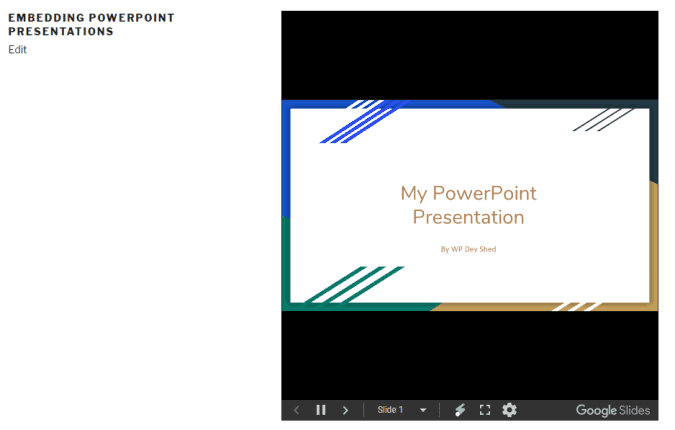 How to Embed PowerPoint Into a WordPress Page or Post » WP Dev Shed
