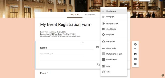 3 customize form