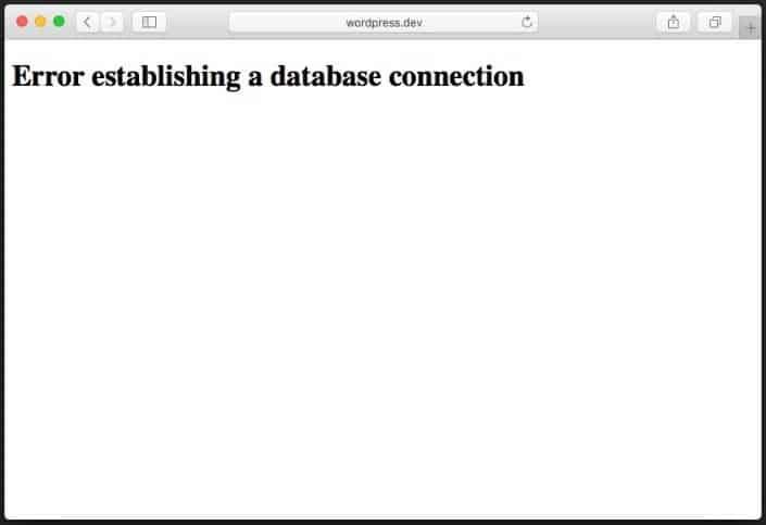 error establishing database connection 3