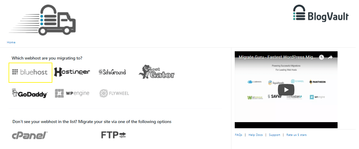 Select web host