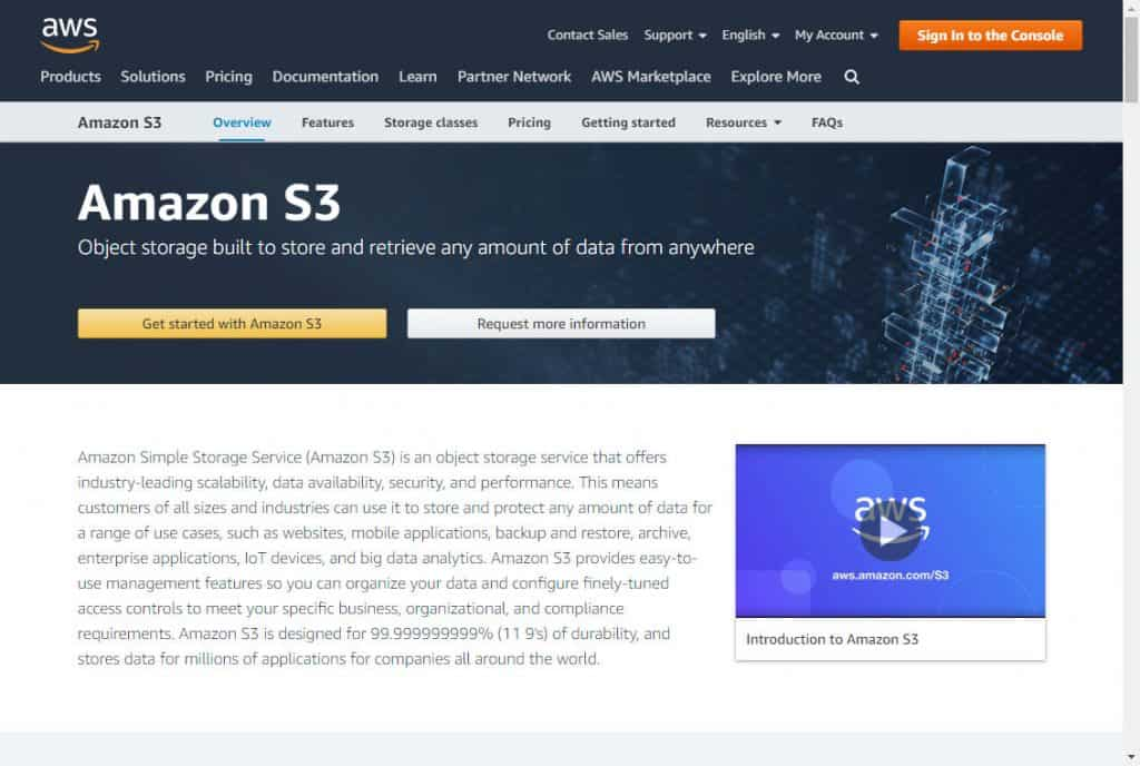 Amazon S3 for video