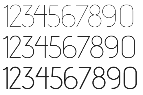 30 Best Free Number Fonts