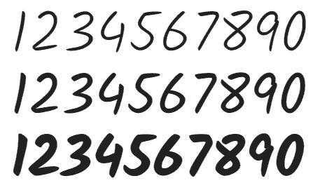Kalam - Number Font