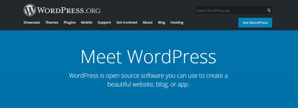 3 wordpress homepage