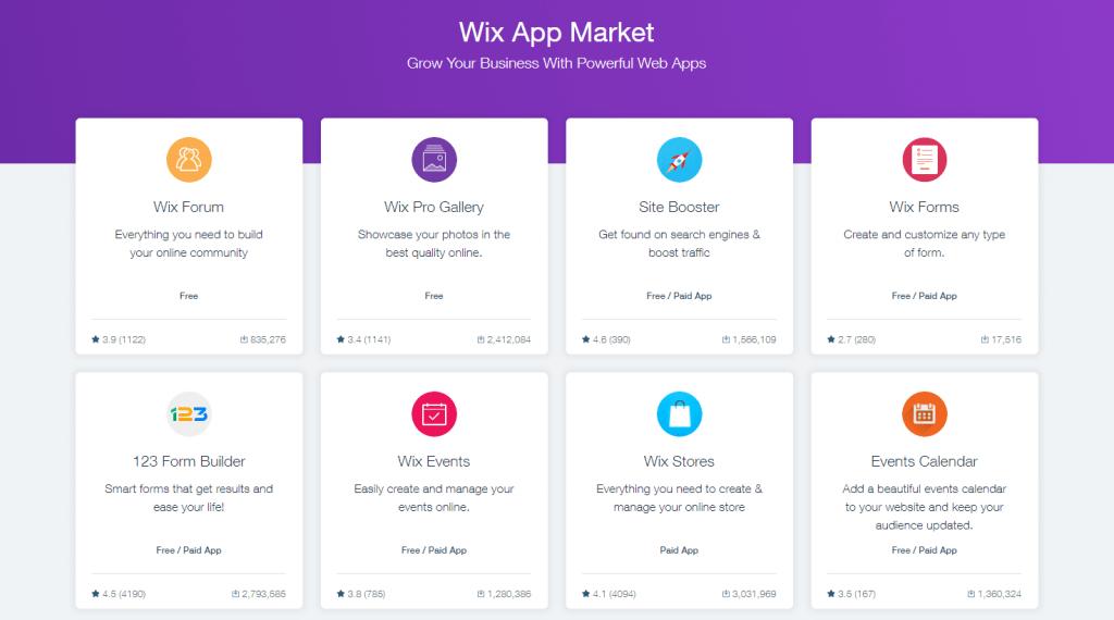8 wix app market