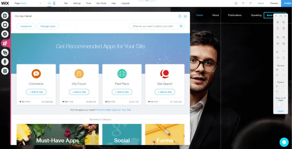 9 wix editor app market