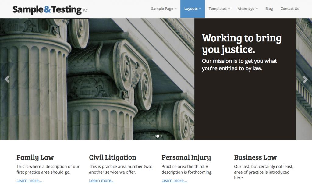 attorney wordpress theme modern law firm