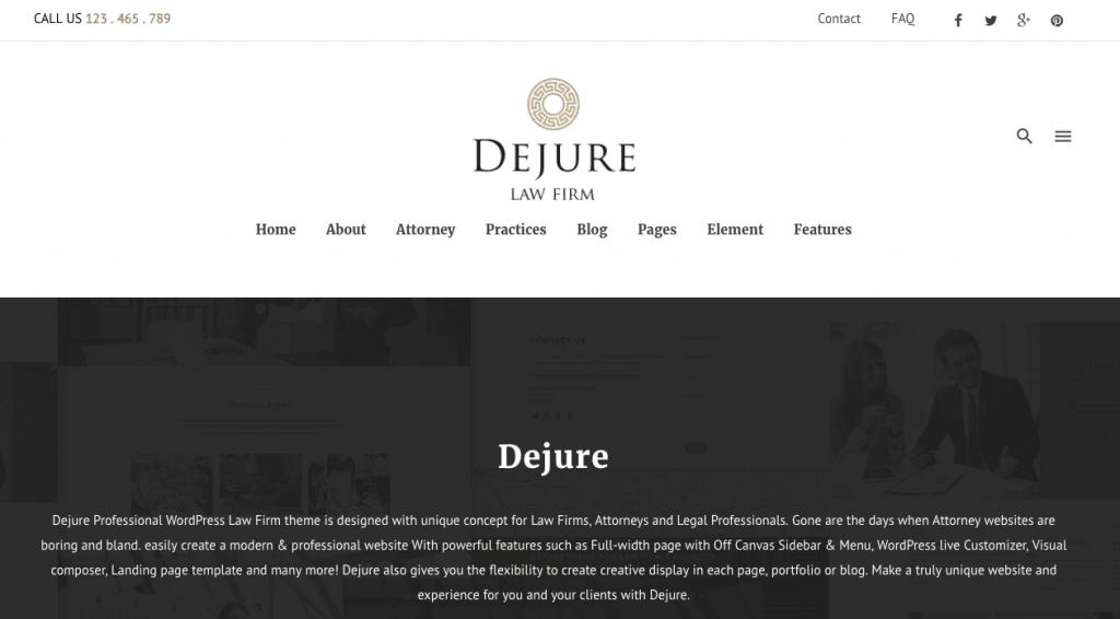 dejure law firm theme