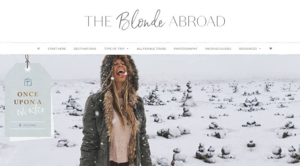 the blond abroad