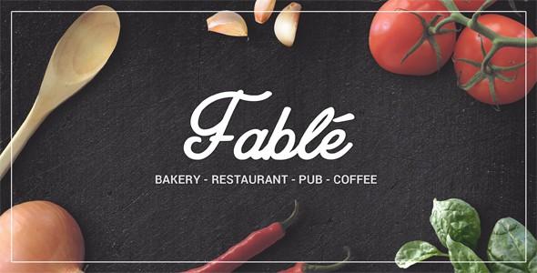 restaurant themes for wordpress fable