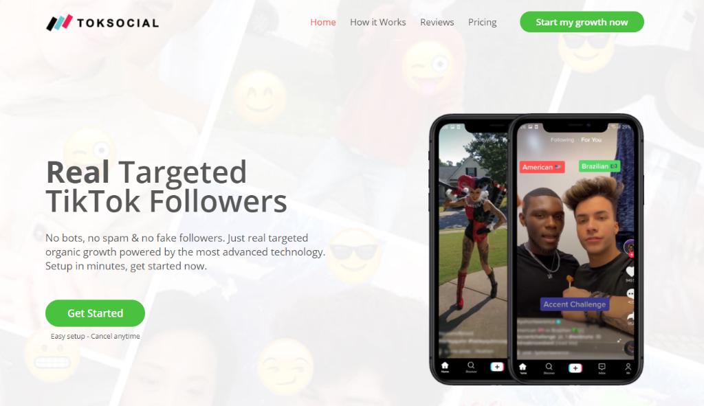 Toksocial - buy real TikTok followers