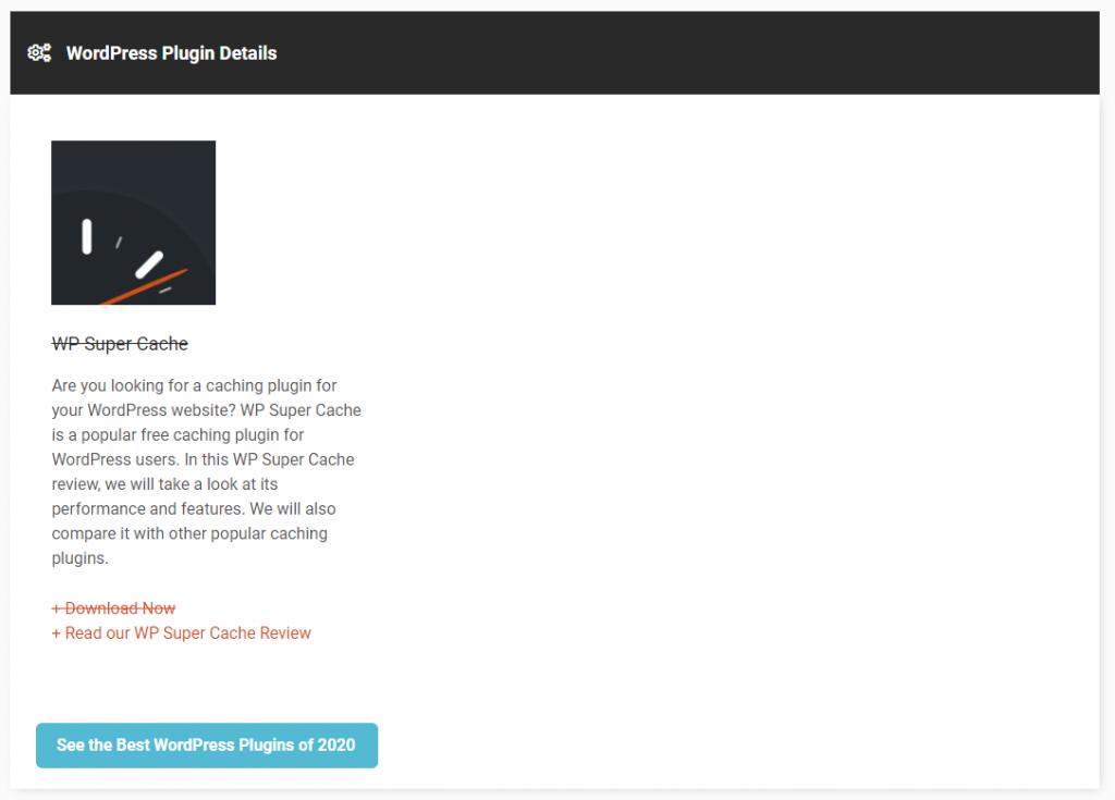 plugin results