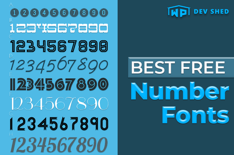Best Free Number Fonts