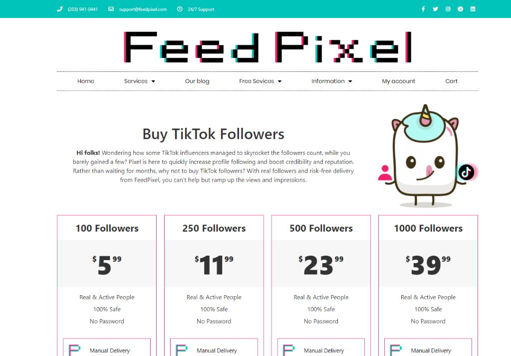 Feed Pixel TikTok Followers
