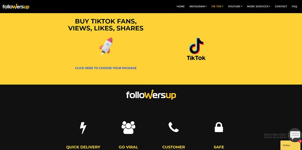 FollowersUp - purchase TikTok followers