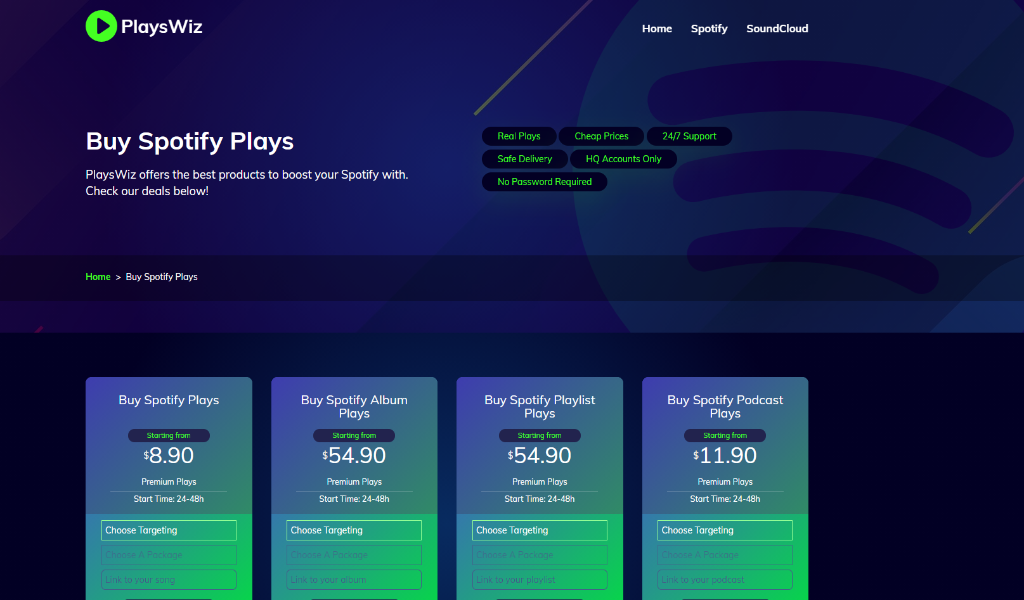 PlaysWiz Spotify Plays