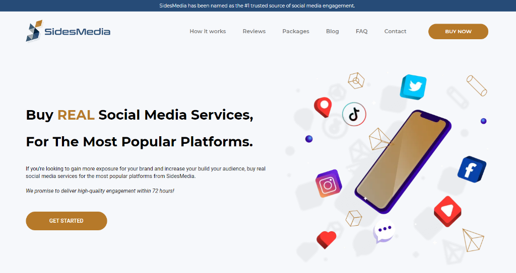 SidesMedia - buy clubhouse followers