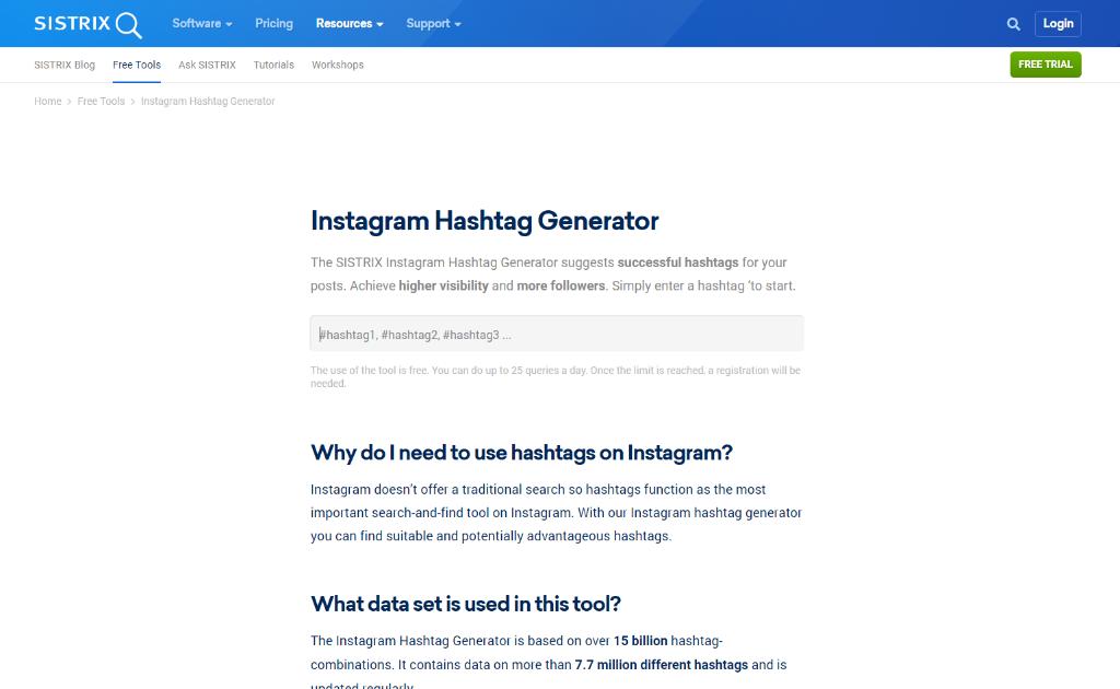 Sistrix Hashtag Generator