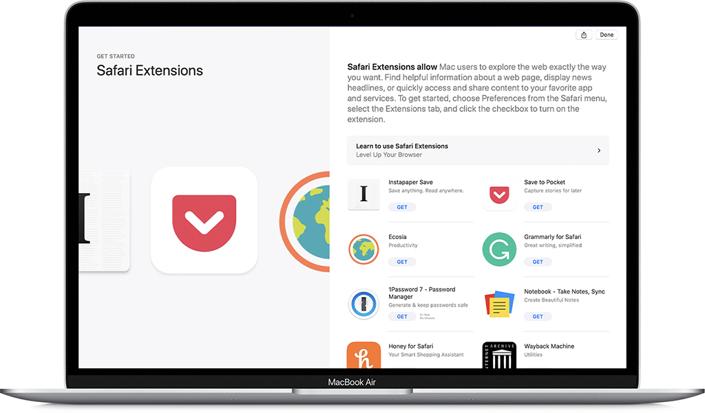 mac extensions and add-ons