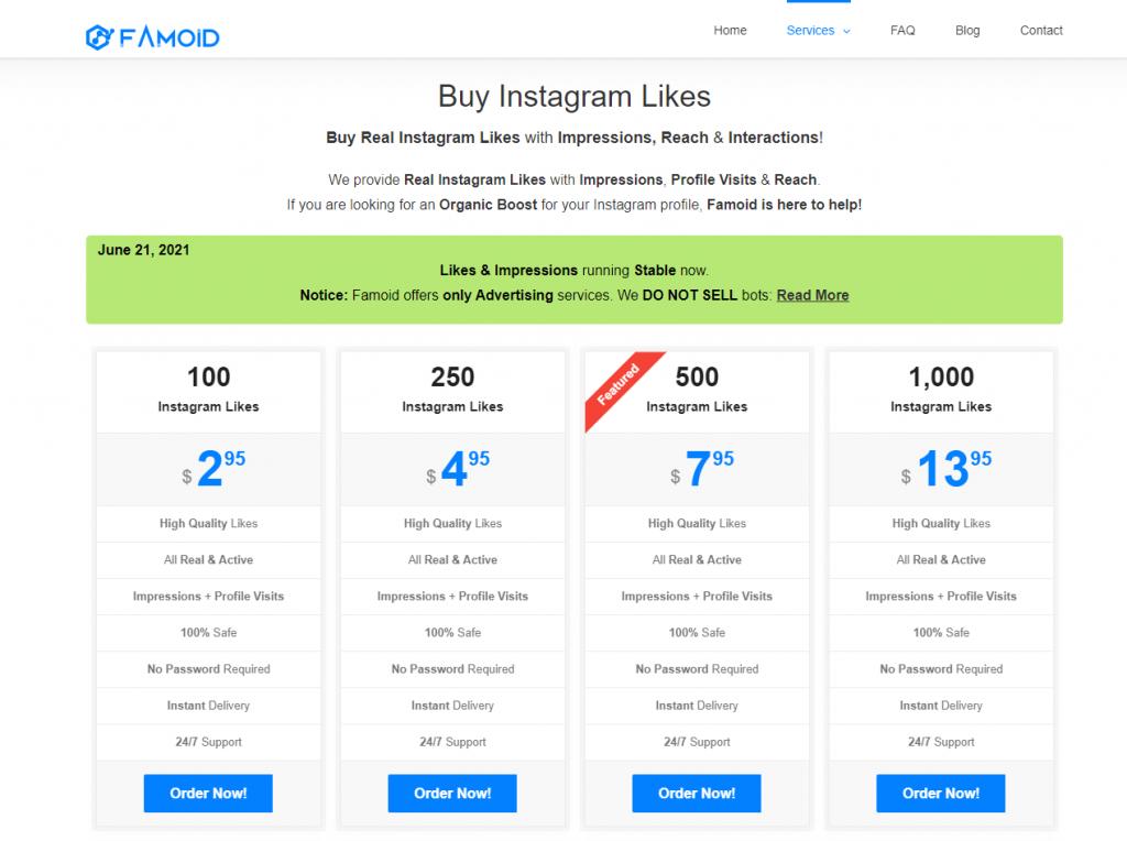 Famoid Instagram Likes