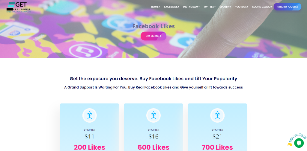 Get Real Boost Facebook Likes