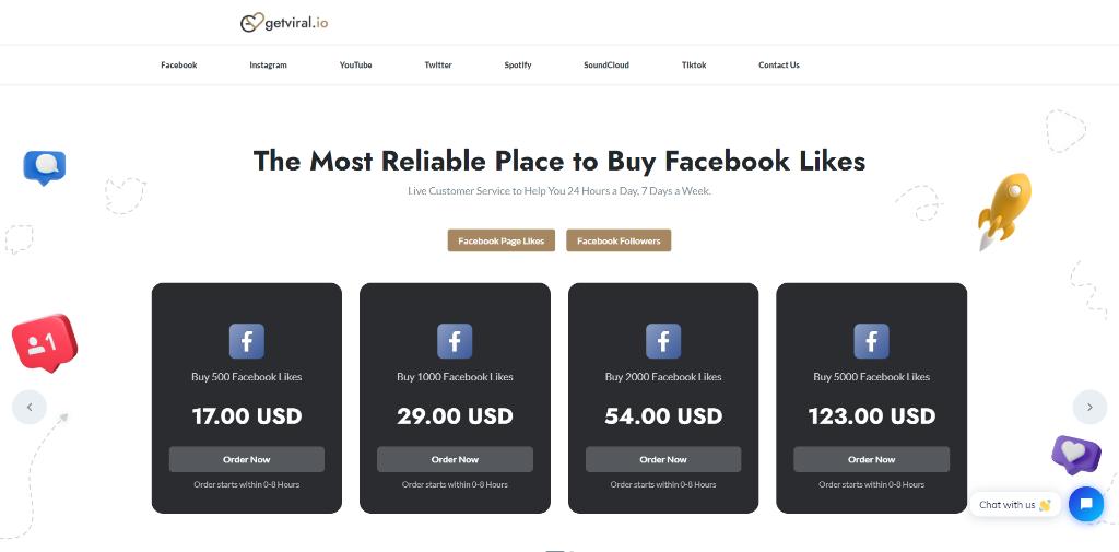 GetViral Facebook Likes