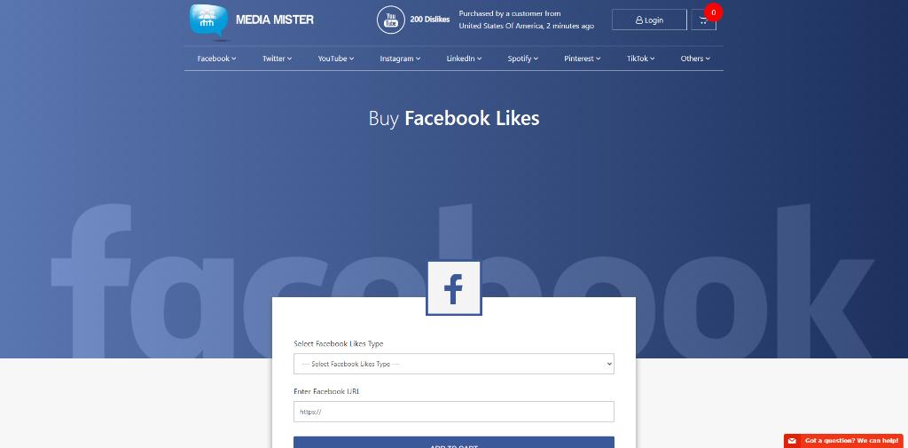 Media Mister Facebook Likes