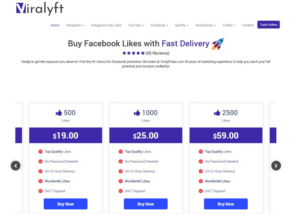Viralyft Facebook Likes