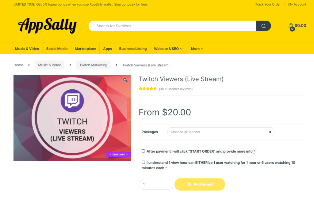AppSally Twitch Viewers