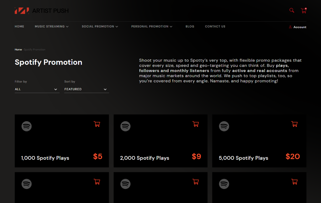 Artist Push Spotify
