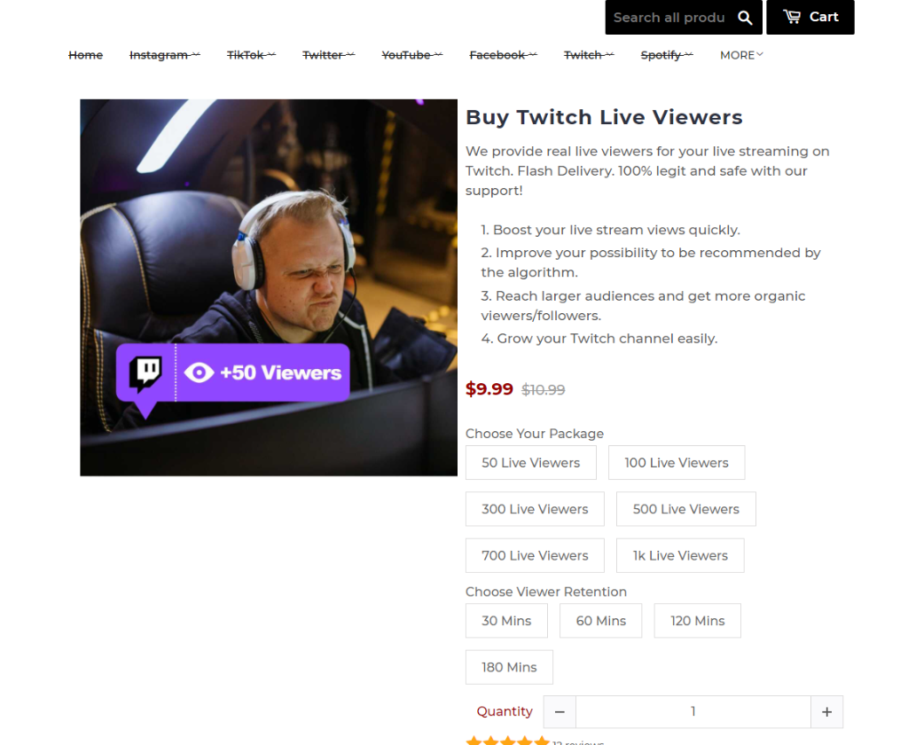 Famous Follower Twitch Viewers