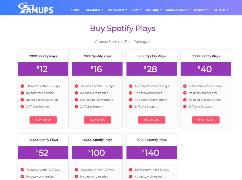 Famups Spotify Plays