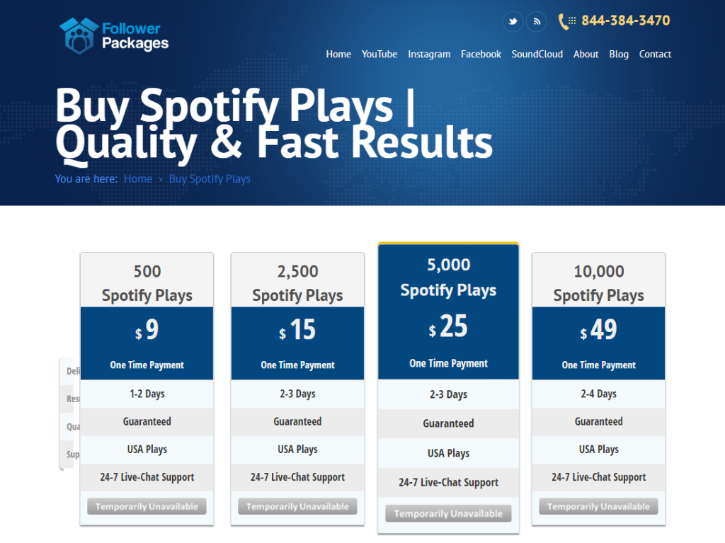 Follower Packages Spotify Plays