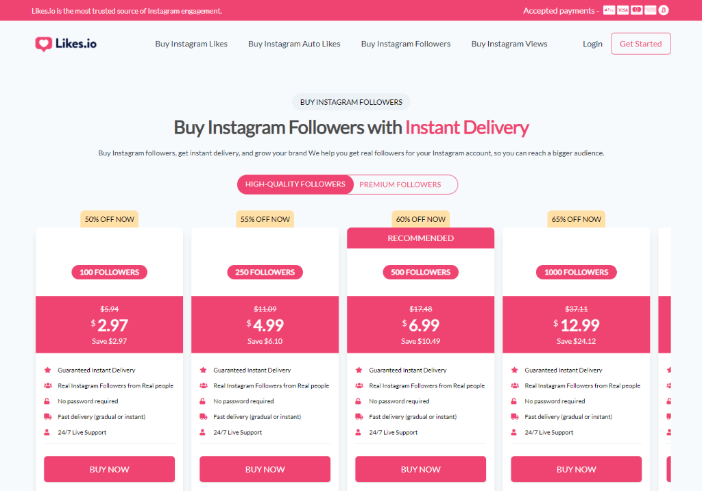 Likes.io Instagram Followers