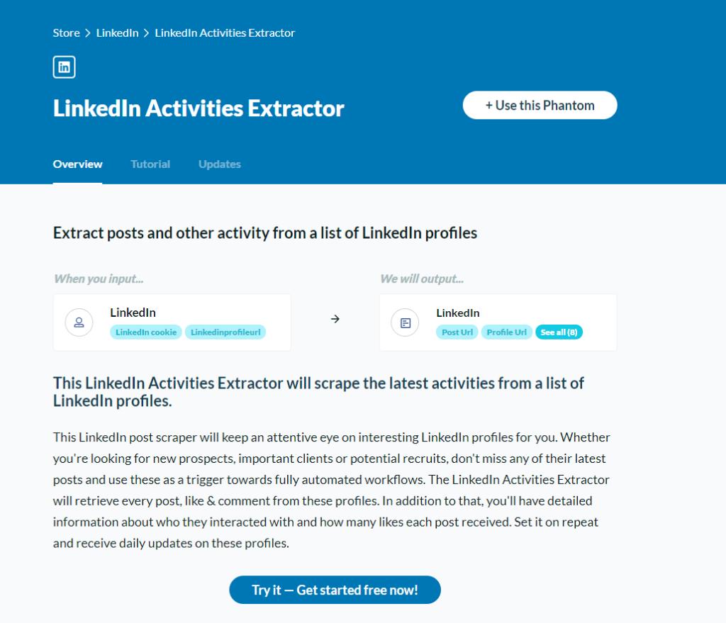 LinkedIn Activities Extractor