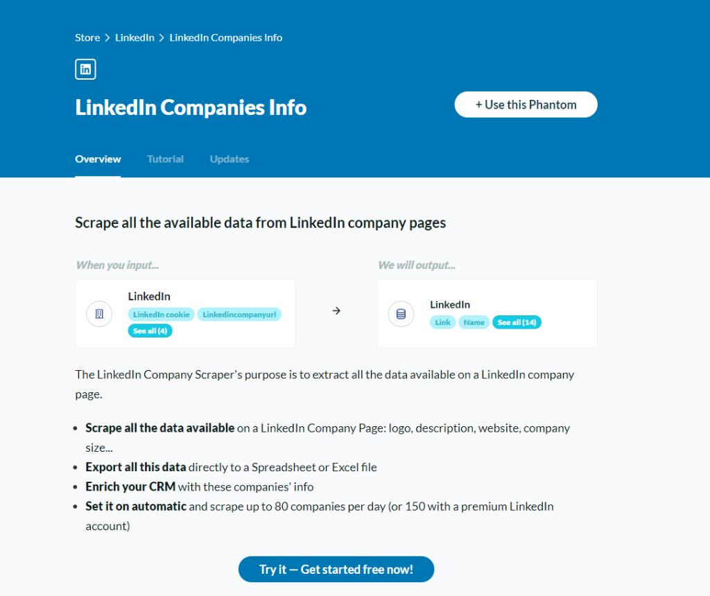 LinkedIn Companies Info