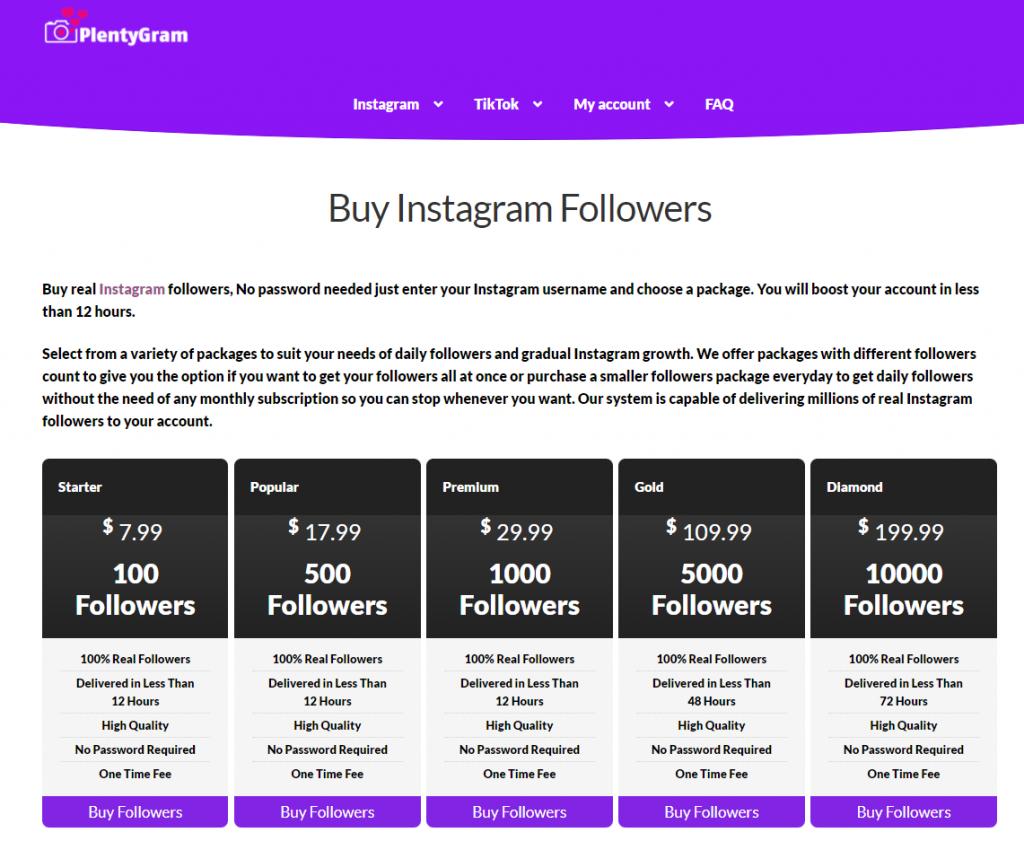 PlentyGram Instagram Followers